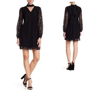 NTW Lace Overlay Choker Mini Dress from Nordstrom